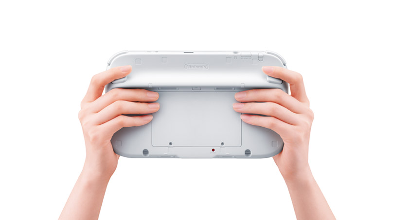 Wii U Controller Backside under