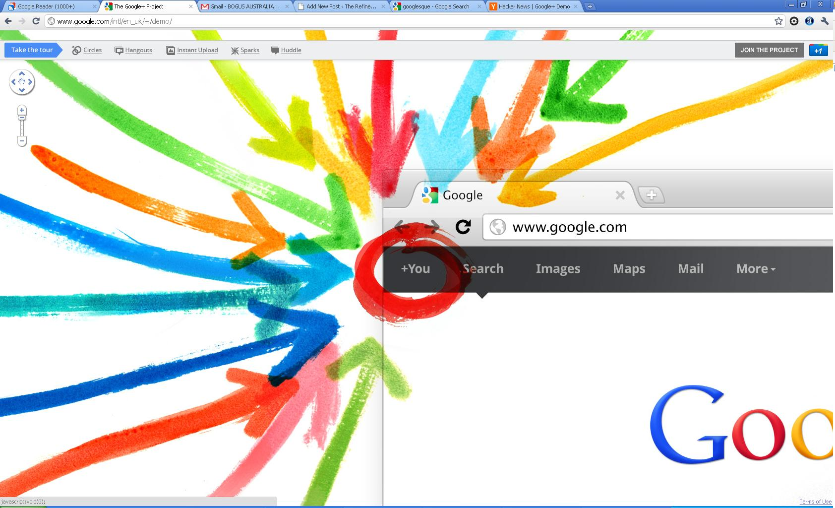 google plus screenshot