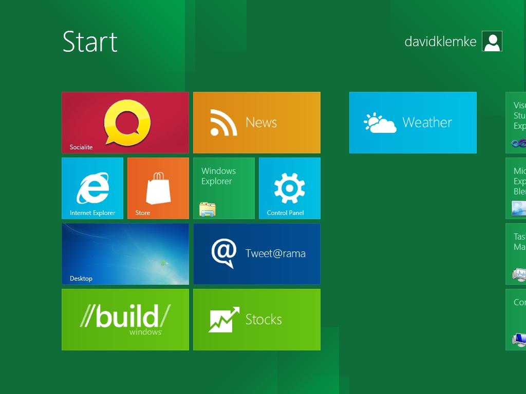 Windows 8 Screenshot Start