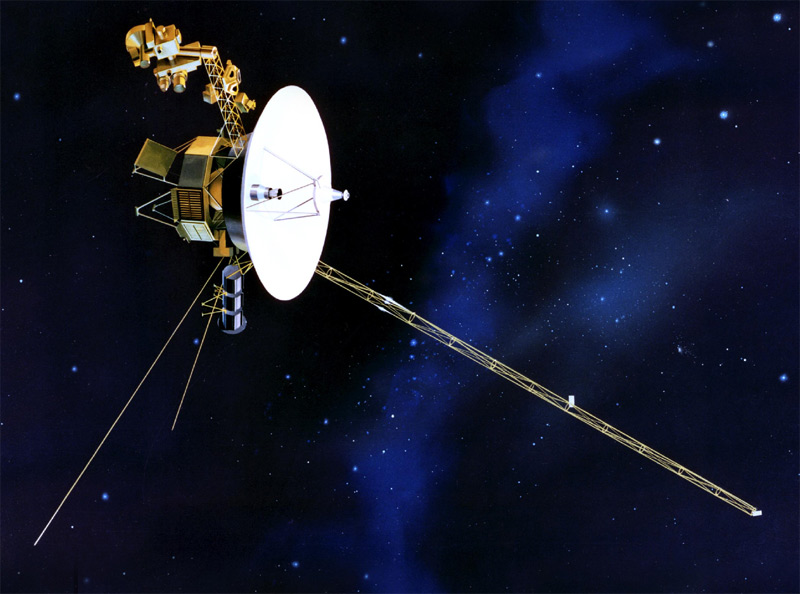 Voyager 1 in space