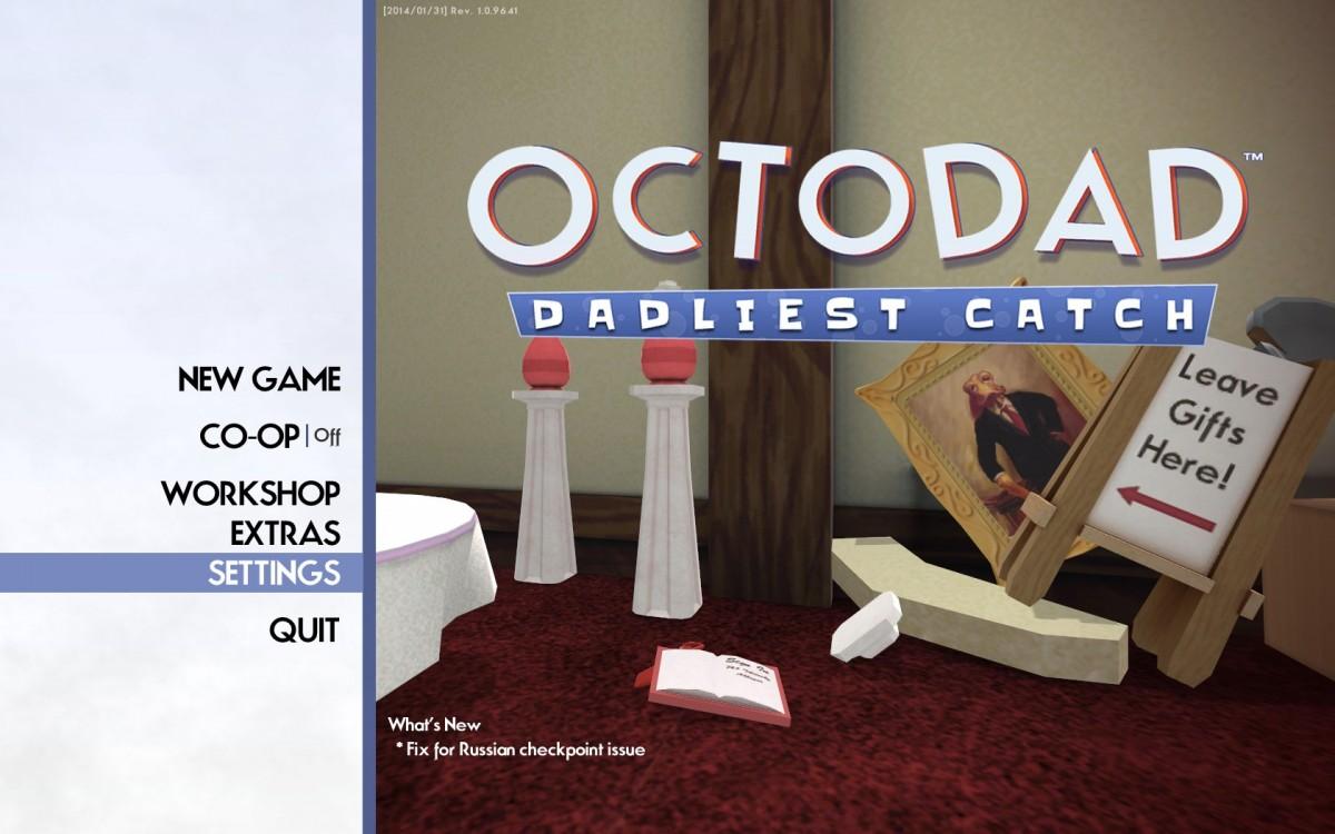 Octodad Dadliest Catch Review Screenshot Wallpaper Title Screen