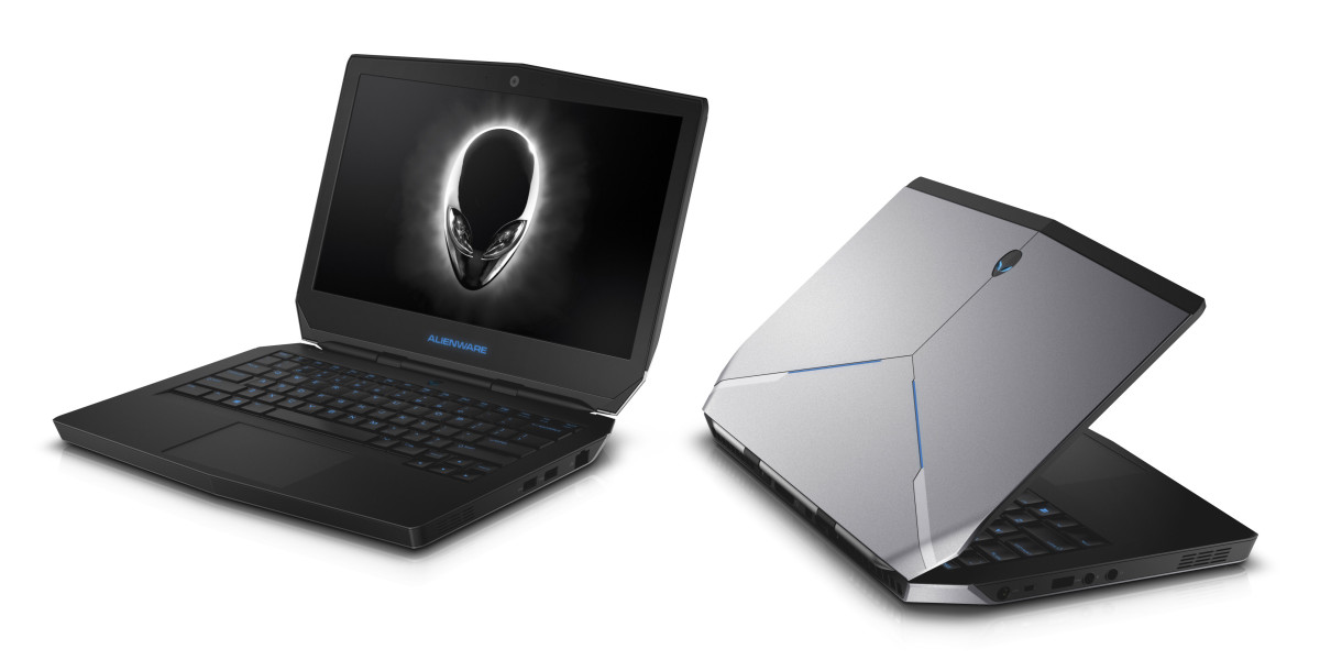 Two Dell Alienware 13 Non-Touch notebook computers.